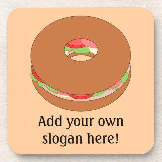 Customize this Bagel graphic Beverage Coaster
