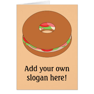 Customize this Bagel graphic Greeting Card