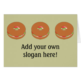 Customize this Bagel graphic Card