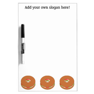 Customize this Bagel graphic Dry-Erase Board