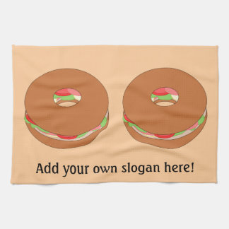 Customize this Bagel graphic Hand Towel