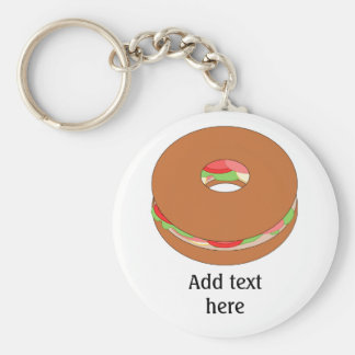 Customize this Bagel graphic Keychain