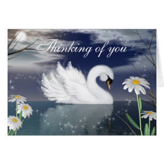 Customize this Beautiful Swan Greeting Card