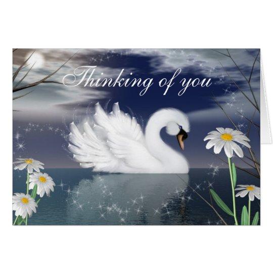 Customize this Beautiful Swan Greeting Card