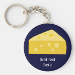 Customize this Big Cheese graphic Basic Round Button Keychain