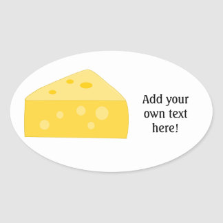 Customize this Big Cheese graphic Oval Sticker