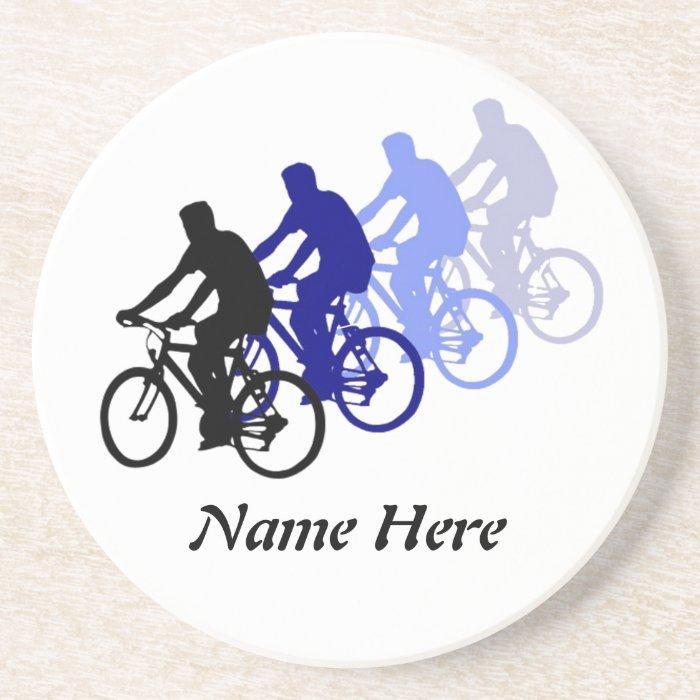Customize this Biking, Cycle, Bicycle Sandstone Coaster