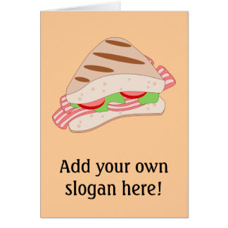 Customize this BLT Sandwich Graphic Card