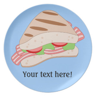 Customize this BLT Sandwich Graphic Dinner Plate