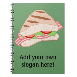 Customize this BLT Sandwich Graphic Spiral Notebook