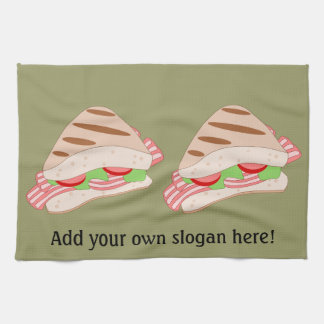 Customize this BLT Sandwich Graphic Towel