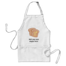 Customize this Buttered Toast graphic Adult Apron