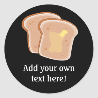 Customize this Buttered Toast graphic Classic Round Sticker