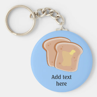 Customize this Buttered Toast graphic Keychain
