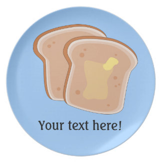 Customize this Buttered Toast graphic Plates