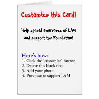 Customize this Card! Greeting Card