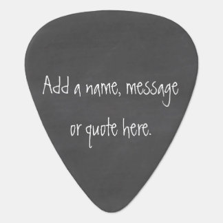 Customize this Chalkboard Guitar Pick