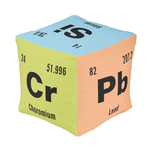 Customize this Chemistry Element Pouf