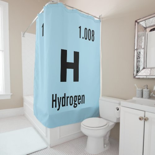 Customize this Chemistry Element Shower Curtain