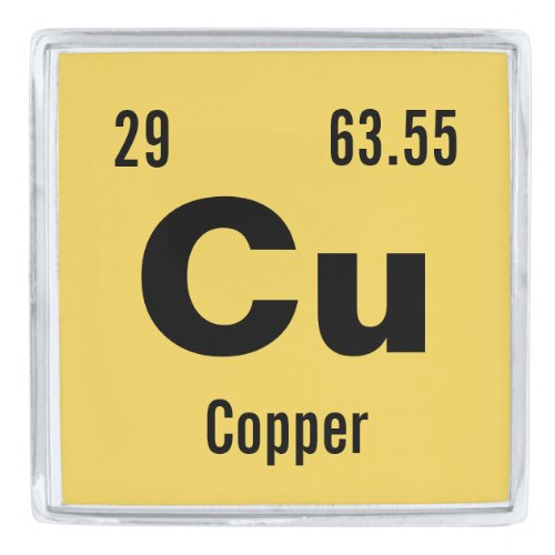 Customize this Chemistry Element Silver Finish Lapel Pin