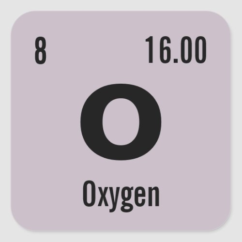 Customize this Chemistry Element Square Sticker