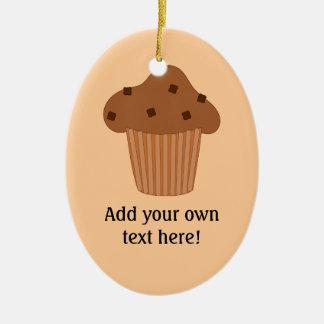 Customize this Choc Chip Muffin graphic Ceramic Ornament