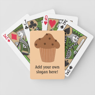 Customize this Choc Chip Muffin graphic Bicycle Poker Cards