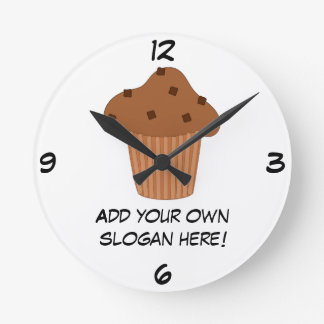 Customize this Choc Chip Muffin graphic Round Clock