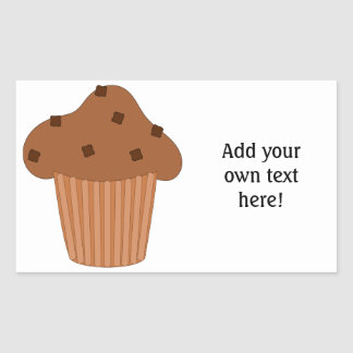 Customize this Choc Chip Muffin graphic Rectangle Stickers