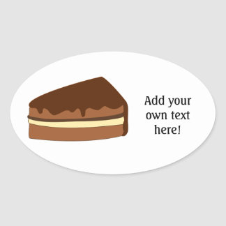 Customize this Chocolate Cake graphic Oval Sticker