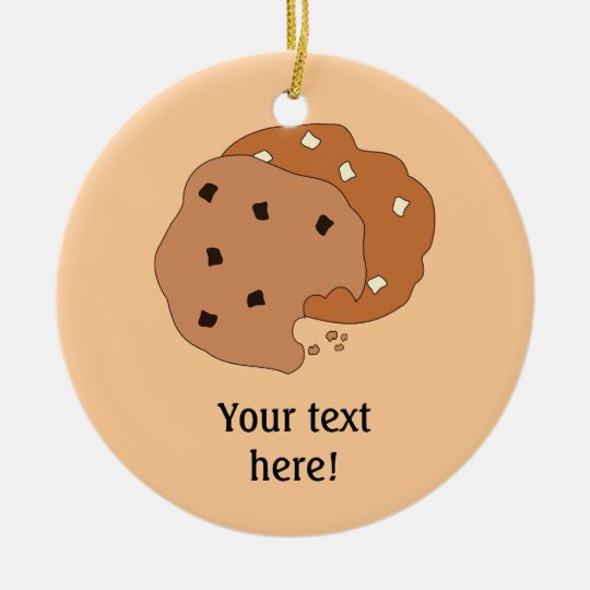 Customize this Cookies graphic Ceramic Ornament