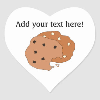 Customize this Cookies graphic Heart Sticker