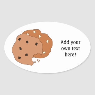 Customize this Cookies graphic Oval Sticker