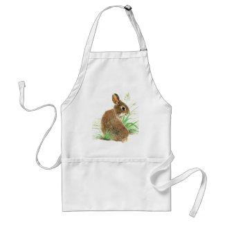 Customize this Curious Rabbit, Watercolor Animal Apron