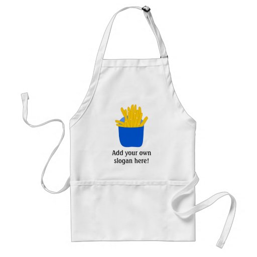 Customize this French Fries graphic Aprons