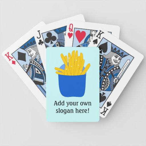 Customize this French Fries graphic Bicycle Playing Cards