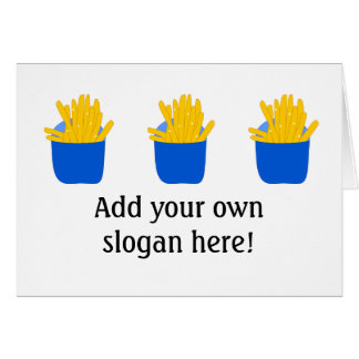 Customize this French Fries graphic Card