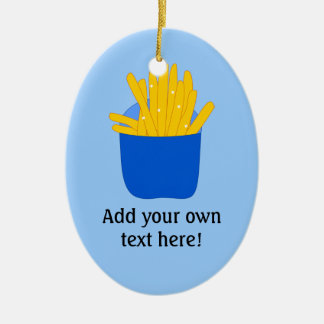 Customize this French Fries graphic Ceramic Ornament