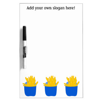 Customize this French Fries graphic Dry-Erase Board