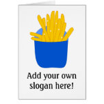 Customize this French Fries graphic Greeting Card