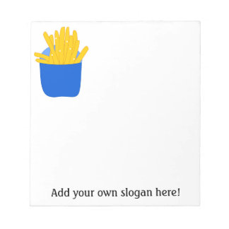 Customize this French Fries graphic Memo Notepad
