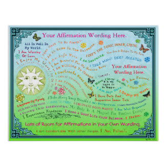 Customize this Garden Affirmation Poster