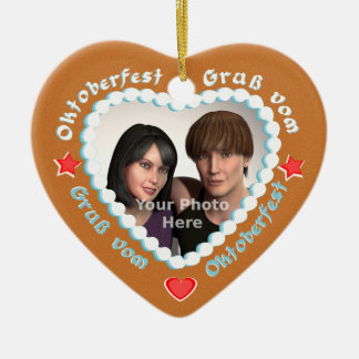 Customize this German Style Gingerbread Heart Ornaments