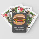 Customize this Hamburger graphic Bicycle Card Deck