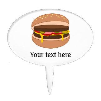 Customize this Hamburger graphic Cake Topper