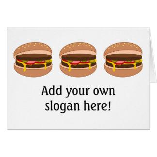 Customize this Hamburger graphic Card
