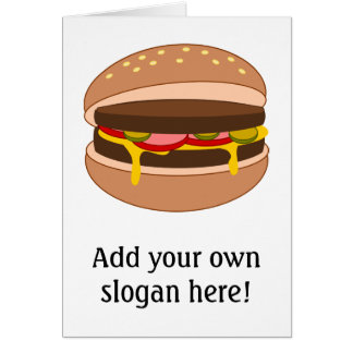 Customize this Hamburger graphic Greeting Cards