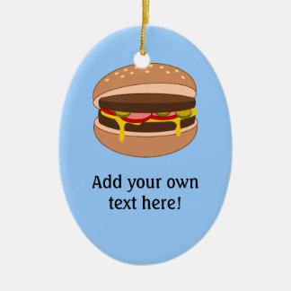 Customize this Hamburger graphic Ceramic Ornament