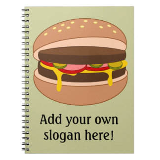 Customize this Hamburger graphic Notebook