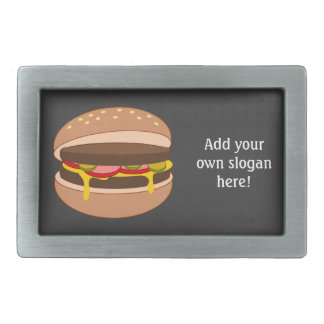 Customize this Hamburger graphic Rectangular Belt Buckle